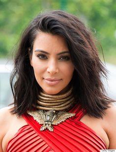 Kim Kardashian's layered bob provides just enough volume and versatility for styling.