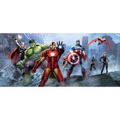 The Avengers - Iron Man, Captain America, Hulk Und Helden, Ruinen Fototapete Poster-Tapete 202 x 90 cm The Avengers, Avengers Poster, Kids Bedroom Wallpaper, Photo Wallpaper, Wallpaper Murals, Captain America, Captain Marvel, Hulk, Poster Mural