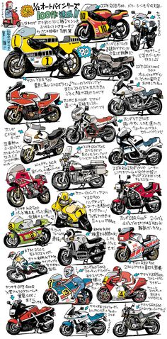 オートバイポスター用カラー絵1