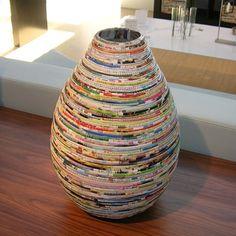 Decoração artesanal utilizando revistas | Revista Artesanato