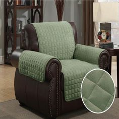 Sofa Covers Furniture Protector Pet Cover Quilted Microsuede Chair x Sage
