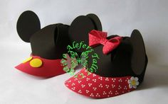 Gorras de Minnie and Mickey Mouse Minnie Mouse Pinata, Fiesta Mickey Mouse, Minnie Mouse Theme, Mickey Party, Mickey Mouse Ears, Mickey Mouse Birthday, Mickey Minnie Mouse, Mickey 1st Birthdays, Crafty Kids