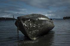 Moody boat still life