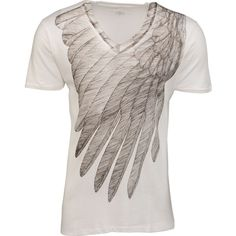 Wings of Love T-Shirt, Ivory ($145) ❤ liked on Polyvore featuring tops, t-shirts, angel wing, wing, american t shirt, ivory t shirt, ivory tee, longsleeve tee and longsleeve t shirts