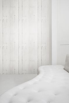 White planks Wallpaper from Studiomold | Made By Mineheart | £70.00 | BOUF