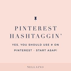 PINTEREST & HASHTAGS  Yes, absolutely start including hashtags to your pin descriptions!! • You can add up to 20 hashtags per a pin but I recommend starting with 4 - 10 so that you are not hashstuffing your description. #hashtags #pinterestforbusiness #pinterestforbloggers #pinterestmarketing Business Advice, Online Business, How To Use Hashtags, Social Media Marketing Business, Online Entrepreneur, Pinterest For Business, Marketing Strategies, Marketing Ideas, Pinterest Marketing