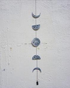 Moon Phases Wall Hanging, Lunar Wall Hanging, Moon Phases Decor on Home Decor Ideas 6362 Gypsy Decor, Bohemian Decor, Boho Wedding Decorations, Baby Shower Decorations, Moon Phases Art, Moon Decor, Bedroom Decor, Wall Decor, Tassel Garland