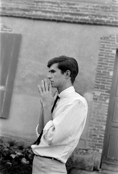 Anthony Perkins on the set of Psycho, 1960