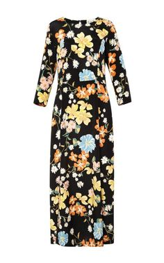 Long Floral Double Slit Dress by Sea for Preorder on Moda Operandi