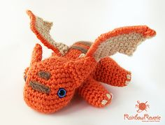 Baby Dragon Amigurumi Plush Toy by Lily Coulombe