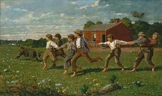 SNAP THE WHIP, Homer, 1872.  The Butler Institute of American Art, Youngstown, OH.