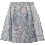 Pre-owned Marc By Marc Jacobs Floral Highwaisted Denim Mini Skirt