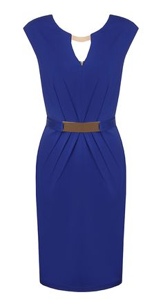 Cobalt pencil dress