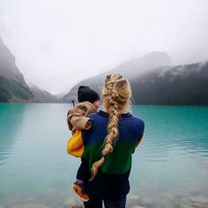 Rainy Day on Lake Louise - Barefoot Blonde by Amber Fillerup Clark Family Goals, Family Love, Cute Kids, Cute Babies, Amber Fillerup, Barefoot Blonde, Mommy And Me, Belle Photo, Baby Fever