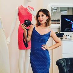 """""""Mi piace"""": 7,888, commenti: 22 - M A T R Y O S H K A . G (@matryoshka.g) su Instagram: """"What say ? 🤔😉😜Dress from @nairakhachatryanofficial 💙💙💙 #womanfashion"""" #dress"""