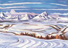 "A.Y. (Alexander Young) Jackson (1882-1974), Canadian / ""Early Snow, Alberta"", 1937... scene near Bar X Ranch near Pincher Creek /"