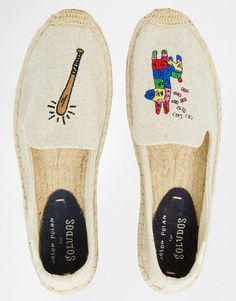 Buy Soludos Jason Polan Pinata Espadrille Flat Shoes at ASOS. Get the latest trends with ASOS now. Espadrilles, Shoe Box, Footwear, Flat Shoes, My Style, Asos, How To Wear, Image, Create