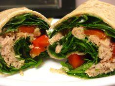 Tuna, spinach, red pepper wrap