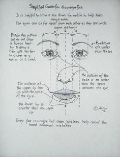 Tips For Drawing a Face, read the blog at http://drawinglessonsfortheyoungartist.blogspot.com/2012/10/tips-for-drawing-face.html#