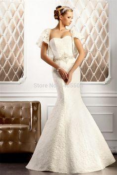 Beads Vestidos sheer Flip Fold Bridal Gowns Applique beaded lace tulle Wedding dresses 2015 New Rhinestone crystals Bolero Cap