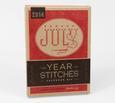 The Year In Stitches: 2014 Calendar Kit by Heather Lin
