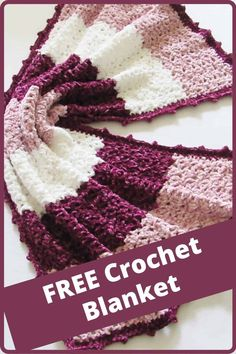 Crochet Blanket Tutorial, Easy Crochet Blanket, Afghan Crochet Patterns, Crochet Yarn, Free Crochet, Stitch Patterns, Crocheted Blankets, Crotchet, Crochet Crafts