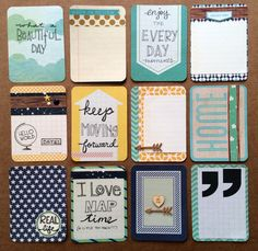 Dozen Handmade Project Life Cards 3x4 by jessicabree on Etsy, $8.50  Matches PL Coral core kit