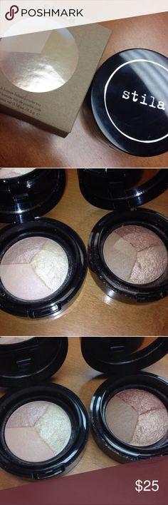 Stila Highlighter & Bronzer Stila 'Set & Bronze' & 'Set & Illuminate' Baked Powder Trio. Both are brand new, Bronzer still in original packaging. 2️⃣ for $26 1️⃣ $14 Stila Makeup Luminizer