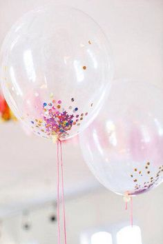 Confetti balloons available to order
