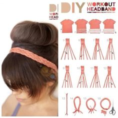 Super Cute DIY Headband! Made From An Old Shirt!