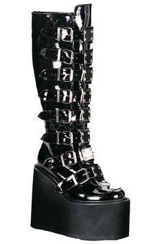 "DEMONIA ""Swing 815"" boots - size 10"