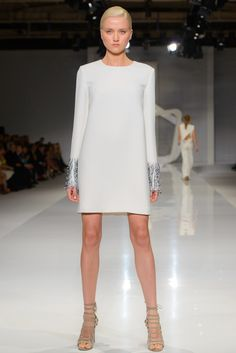 La Mania fashion show Fashion Show, Ss15 Fashion, Ss 15, Spring Summer 2015, Runway, White Dress, High Neck Dress, Dresses With Sleeves, Long Sleeve