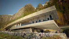 Langfoss Rasteplass - Amazing spot for natural elegance, and spectacular view! Opus Arkitekter - www.opusark.no