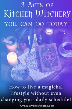 """It's sometimes said that """"Kitchen Witchery"""" is a specific path of witchcraft, but the fact is, we all have kitchens, and we all have the magick in us! You may or may not be a star chef, but just by creating ritual around your daily housework can add the conscious intention you need into your home! In this Magickal Musings article, I'll tell a little story about the power of intention with food, and share three super easy acts of kitchen magic you can do today! Read on to learn some lovely…"""