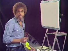 You Can Now Watch the First-Ever Episode of Bob Ross' 'The Joy of Painting' Online Bob Ross Painting Videos, Bob Ross Paintings, Art Paintings, Painting Flowers Tutorial, Painting Tutorials, Painting Techniques, Diy Painting, Art Tutorials, Pinturas Bob Ross