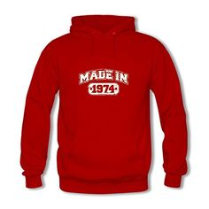 CXCDIY The Latest Style DIY Made In 1974 Womens Hoodie ** Check this awesome product by going to the link at the image. (This is an affiliate link) Womens Hoodie, Latest Fashion For Women, Hoodies, Sweatshirts, Image Link, Awesome, Check, Sweaters, Diy