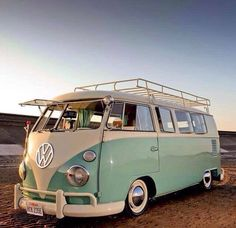 VW Campervan.. I always imagine us owning one of these & going to festivals…