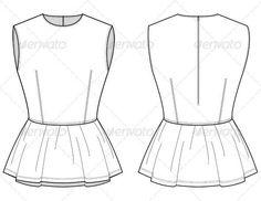 Flat sketch-http://www.sewingavenue.com
