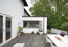 Køkken og terrasse smelter sammen