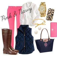 Pink & Navy Love
