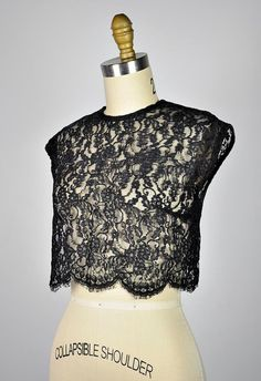 vintage lace top. | via From Brooklyn with Love/Etsy.