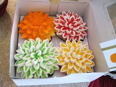 Flower pot cupcakes with marshmellow flowers