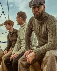 The 'Bridwell' Sweater - Woven in Scotland - Available in Pine Green & Light. The 'Bridwell' Sweater – Woven in Scotland – Available in Pine Green & Light… Estilo Hipster, Scottish Fashion, Scottish Man, Look Vintage, Gentleman Style, Mens Clothing Styles, Winter Collection, Men Sweater, Knit Sweaters