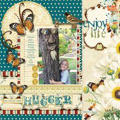 Tree Hugger - Scrapbook.com - Spectacular page! #scrapbooking #layout #websterspages