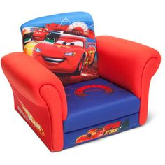 Disney Cars Upholstered Drift Deluxe Chair. I am not sure if this will outlive the toddler recliner which is only $10 more.