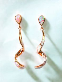 14KT Rose Gold Plated 925 Sterling Silver Pink Fire by MoodTherapy, $149.95