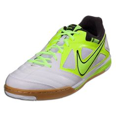 Nike Nike5 Gato - White/Volt/Black Indoor Soccer Shoes