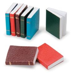 Miniature Books, Assortment by Darice. $5.77. Brand New Item / Unopened Product. 082676808319. Darice. 2318-50. Great for dollhouses, train tables, and terrarium crafts! Miniature books: 8 piece assortment, various colors. Measures 3/4 inch each. 1 set / pkg    --------------------------------------------------------------------------------