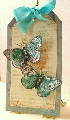 Pretty tag #scrapbooking #crafts #scrapped #butterfly