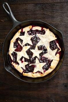 (blueberries) Grilled Blueberry Lemon Pie by EclecticRecipes.com #recipe